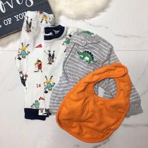 🎉Bundle Carter's baby boy pajama set footie B6-18